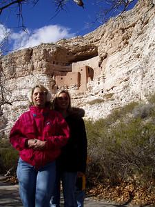 Montezuma Castle with Wendy and Kathy