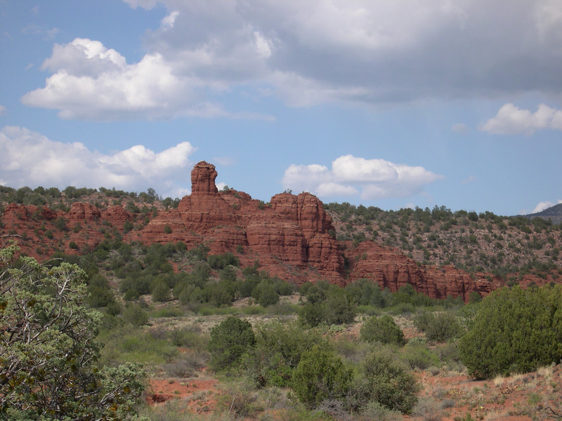 red rock formations behind our resort, which JC came across on a solo hike, 1