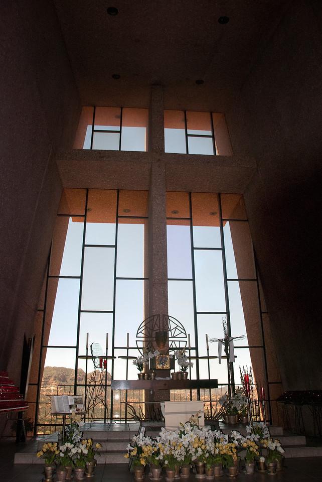 Interior of Chapel of the Holy Cross, Sedona