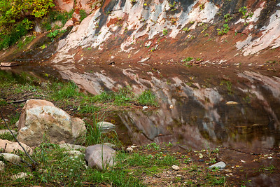 Canyon wall reflection, West Fork trail
