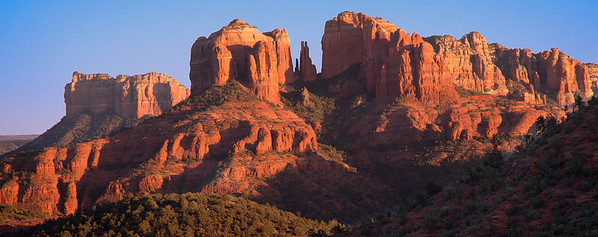 Cathedral Rock from Upper Red Rock vista, Sedona, AZ