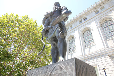 Statue of Ashurbanipal of the Assyrians, in front of the Asian Art Museam.  July 8th, 2011.  To learn more, see: http://www.asianart.org/