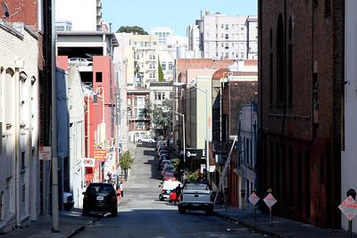 Looking East on Fern Street, between Van Ness Avenue and Polk Street, San Francisco.  September 8th, 2011.