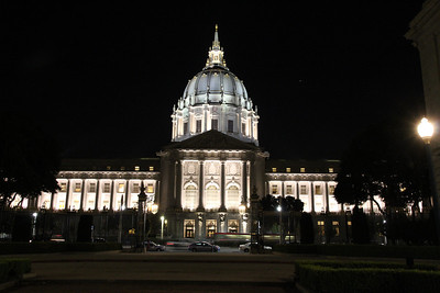 Looking East towards Van Ness Avenue and San Francisco City Hall.  November 15th, 2011.  6pm.  To learn more about our city government, see: http://sfgov.org/index.asp