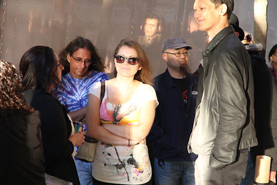 Waiting in line for a concert at the Great American Music Hall, 859 O'Farrell Street, San Francisco. September 20th, 2011.