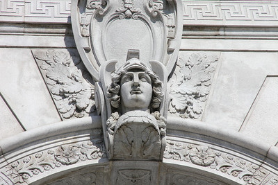 Exterior detail of the Superior Court Of California, 400 McAllister Street, San Francisco, October 21st, 2011.