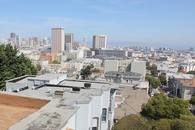 Looking east from near the center of San Francisco, September 17th, 2011.
