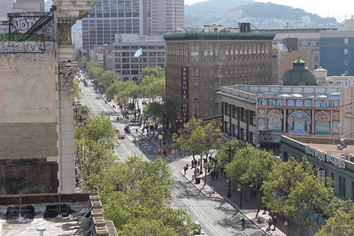"Market Street as seen from the offices of Compass Family Services. April 15th, 2011 during the filming of the documentary film, ""Voices that Heal""."