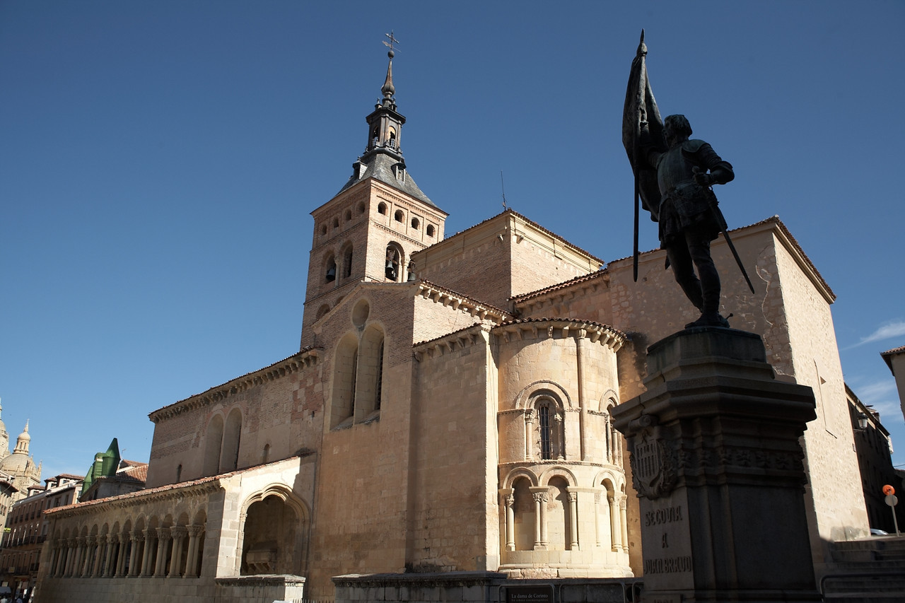 San Martin Church. The building just to the left, in the background, was actually a prison.