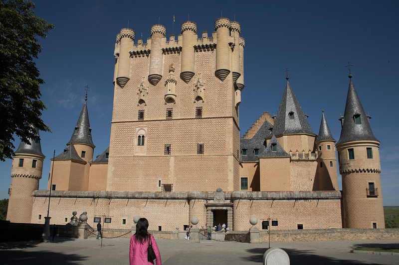 Alcazar, probably built in the 12th century. Besides being the home of kings, it also served as a prison for more than two centuries after Madrid became the capital.