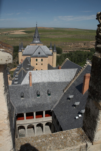 This is the view of the castle from the top of the castle's keep.