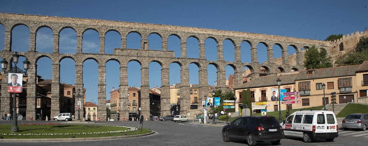 The Roman aqueduct is the first thing you see after you get dropped off by the bus from the train station.