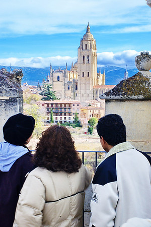 A beautiful view from the Castle tower of Segovia's cathedral.