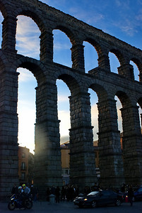 Coming to the end of the day in Segovia...