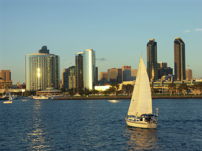 Taken from a boat tour of San Diego's harbor.