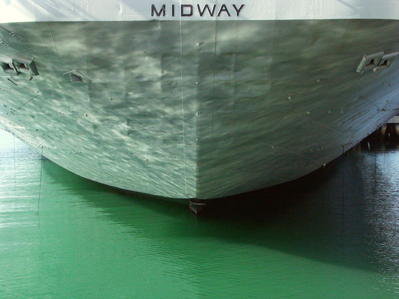 We took an audio tour of Midway, but this was from before the tour.