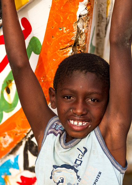 Portrait of Senegalese boy