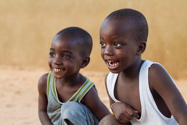Senegalese boys laughing