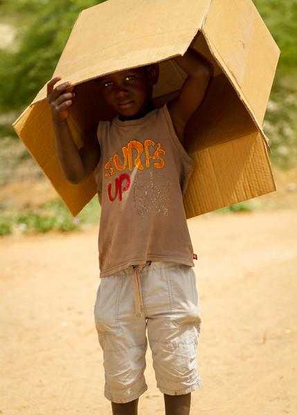 Cardboard box boy