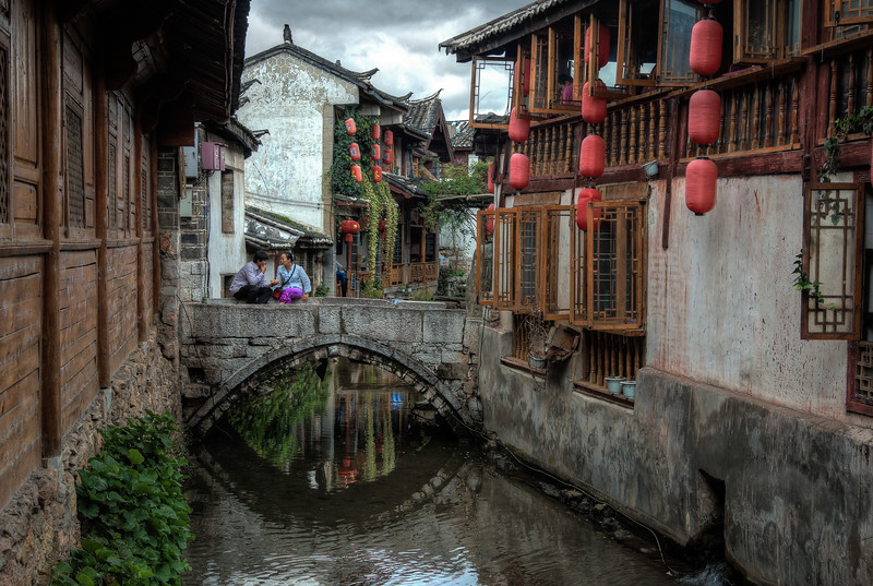 Along the canals of the medieval city of Lijiang.