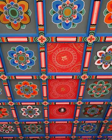 Ceiling at the Bongeunsa Temple, Seoul, South Korea