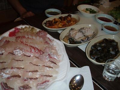 Sashimi from the Seoul Fish Market