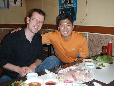 Gap and Fred at the Seoul Fish Market