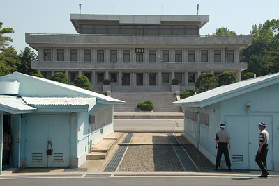 UN buildings and the North Korean facility at the DMZ.