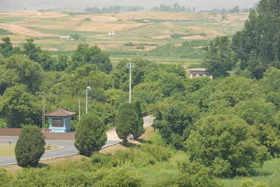 The bridge of No Return, where North and South Korea exchanged prisoners of war. It is also the site where 3 people on the Southern side were killed with axes by North Koreans. Since that incident, the North and South Korean troops must stay on their respective sides of the border.