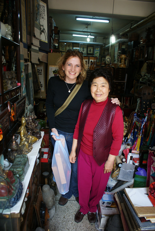 A nice little shopkeeper. She liked the Attache. Probably because the Attache paid for her retirement.
