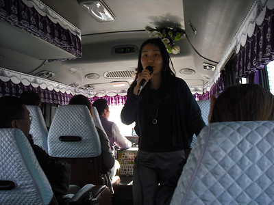 Our tour guide on our way to the DMZ.