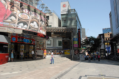 Myeong-dong area of Seoul