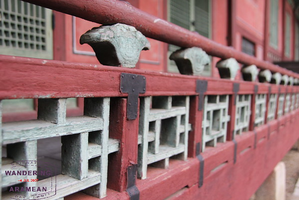 More detail in a railing at Gyeongbokgung Palace