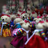 Tiny bears, dressed in traditional Korean costume, make good souvenir key-chains.