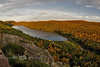 Lake in the Clouds during Peak Fall Colors - Porcupine Mountains, Michigan's Upper Peninsula