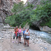 9/12 - Jenny, Lisa, Olivia and Amy at the Narrows (Virgin River)