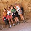 9/11 - red rock cave - Jenny, Lisa, Olivia and I