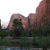 9/12 - sunset view of Angel's landing - the spine we had hiked the day before