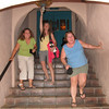 9/9 - hobbling down the stairs at Oaxaca in Sedona.