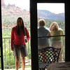 9/9 - Orchards Inn in Sedona - Jenny, Liv and Amy on our hotel balcony