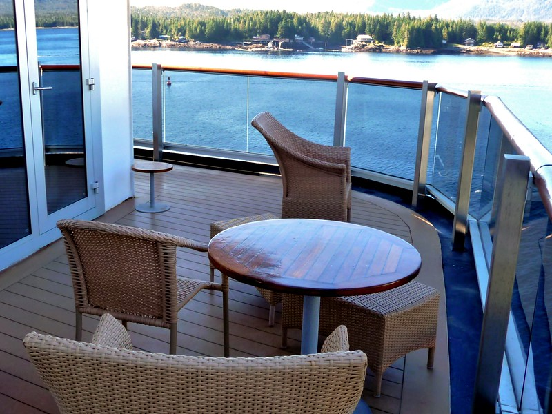 Different views of our large, wrap around deck.