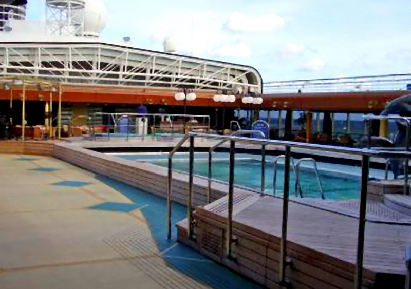One of the two Lido deck pools. (Beyond Ships file photo.)