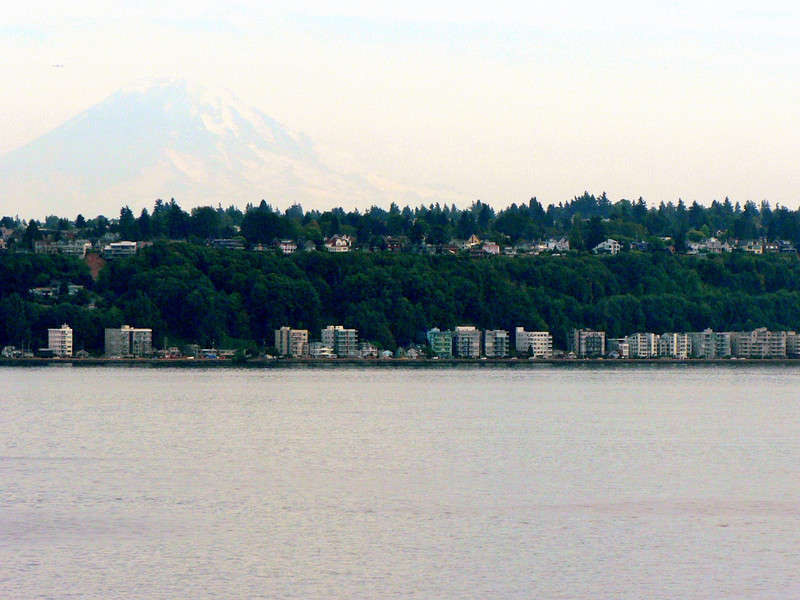 Another view of West Seattle as we're leaving.  Note: you can see our condo (if you know where to look) and you can see Mt. Rainier.