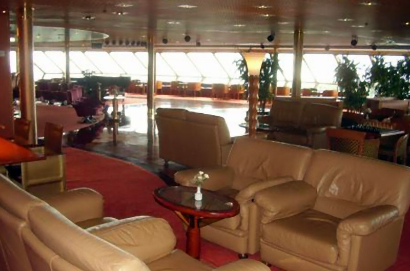 The Crow's Nest lounge…a favorite if judged by the number of people usually there. (Beyond Ships file photo.)