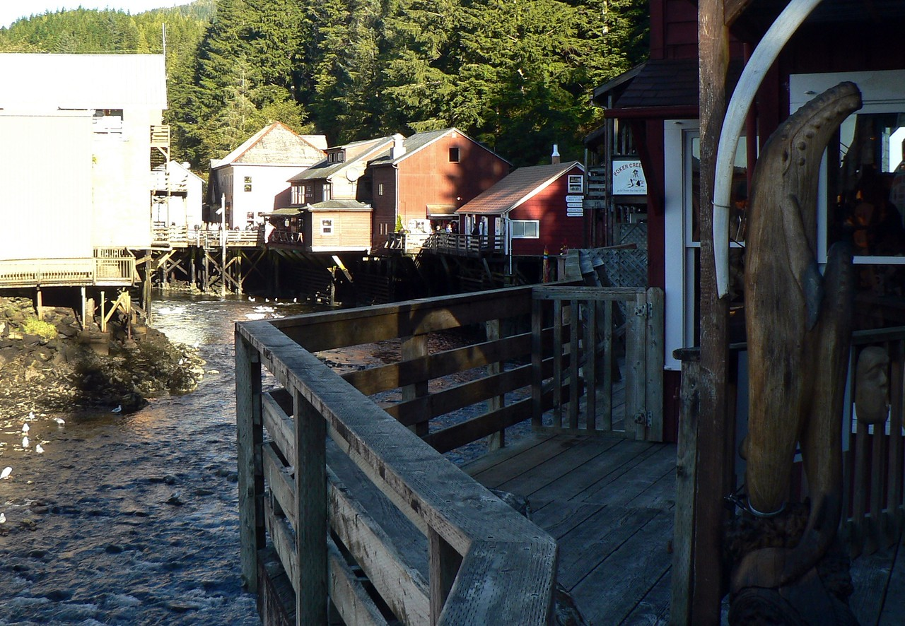Creek street…during Ketchikan's gold mining heyday, this was a street of brothels.