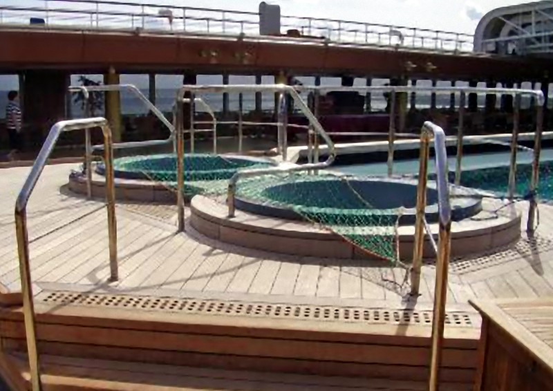 Whirlpool pools on the Lido deck. (Beyond Ships file photo.)