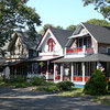 There are over 300 Gingerbread Cottages in this area of Oak Bluffs.
