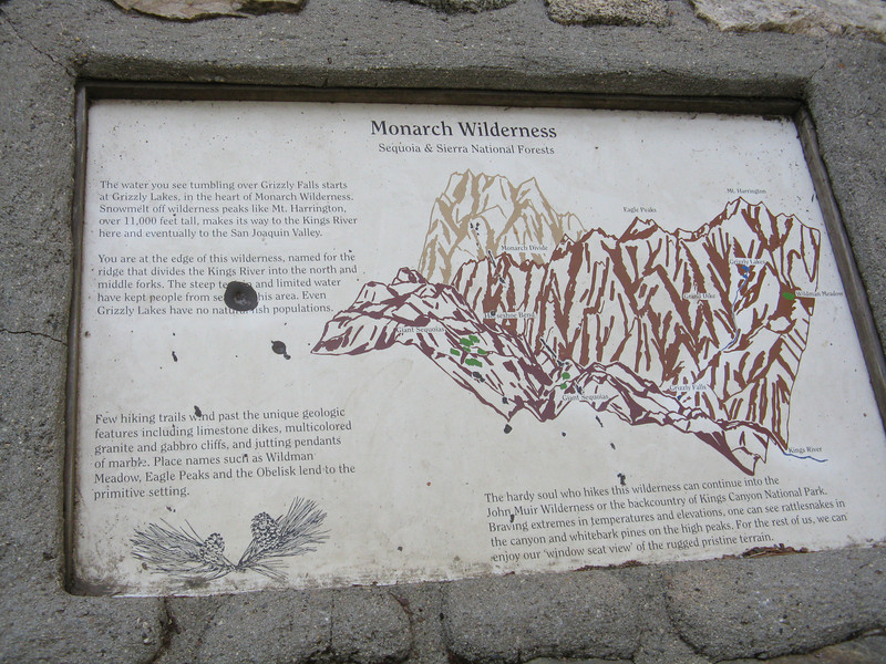 Monarch Wilderness sign.