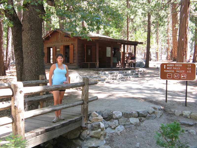 Marissa at the trailhead for the back country.
