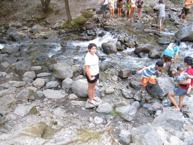 Marissa testing the waters.
